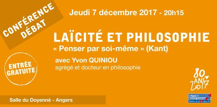 Conférence-débat : Laïcité et philosophie